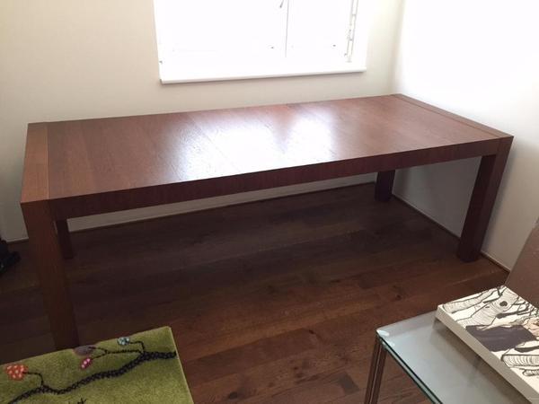 j msunda esstisch eiche dunkel 6 personen in n ziders ikea m bel kaufen und verkaufen ber. Black Bedroom Furniture Sets. Home Design Ideas