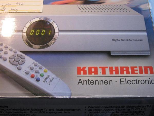 kathrein dvb t receiver in ney antenne sat receiver. Black Bedroom Furniture Sets. Home Design Ideas