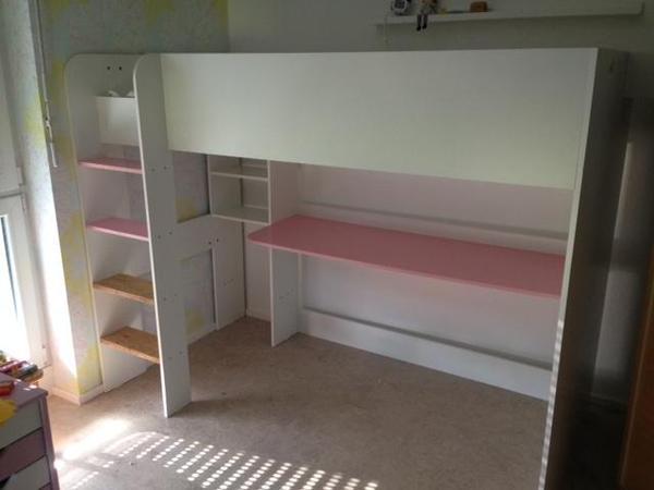 kinderhochbett mit schreibtisch in rottenburg kinder jugendzimmer kaufen und verkaufen ber. Black Bedroom Furniture Sets. Home Design Ideas