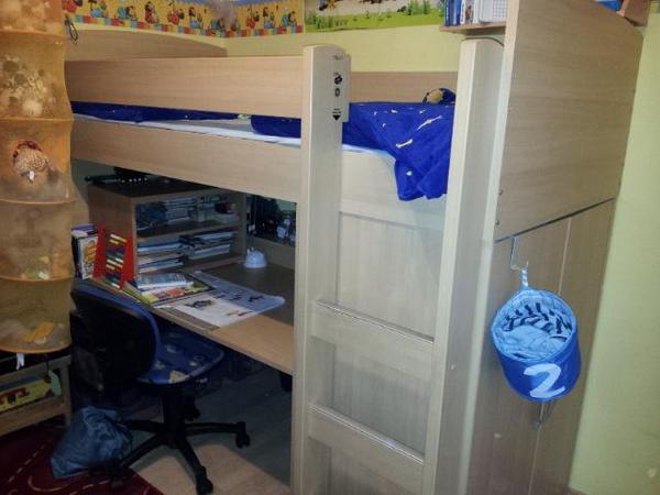 Kompaktzimmer funktionsbett etagenbett hochbett for Funktionsbett jugendzimmer