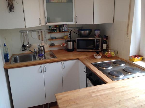 Küche Einbauküche Holz mit Herdplatte + Ofen in München ...