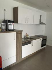 Küchenblock- weiß Hochglanz-