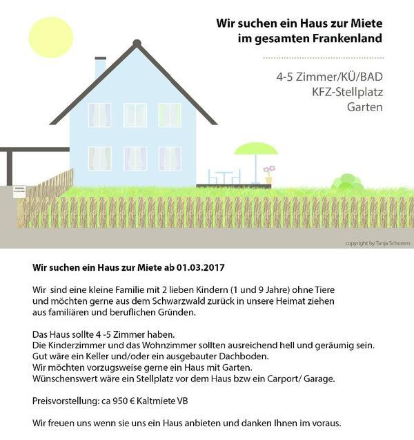 Ländliches Haus Zur Miete Gesucht Im Frankenland In