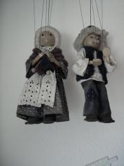 Marionetten -Puppen aus