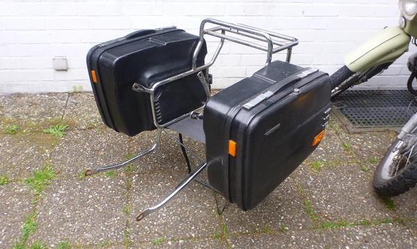 mz etz 250 seitengep cktr ger mit krauser koffer in. Black Bedroom Furniture Sets. Home Design Ideas