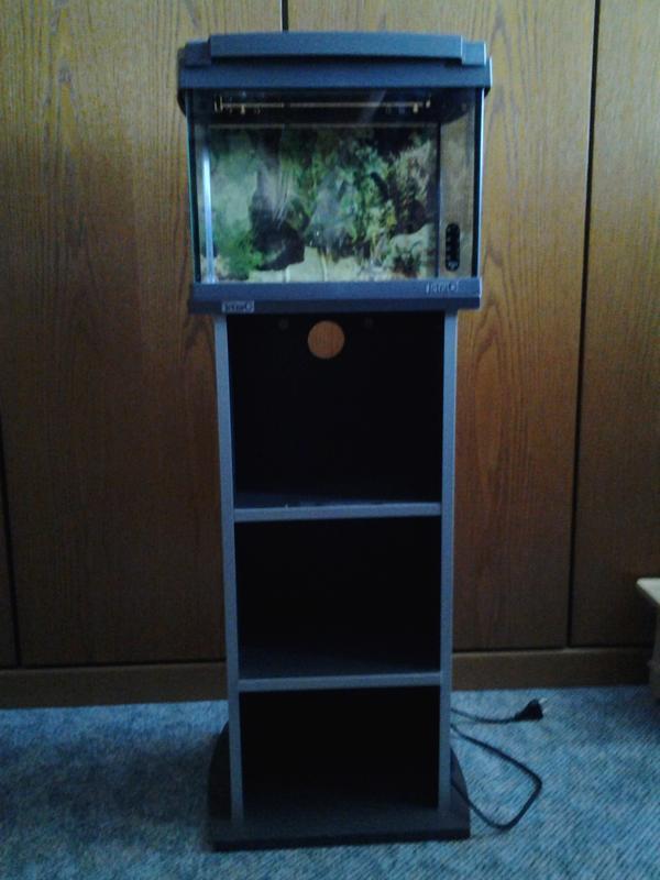 nano aquarium mit unterschrank in m nchen fische. Black Bedroom Furniture Sets. Home Design Ideas