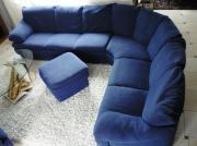 Natuzzi Eckcouch blau