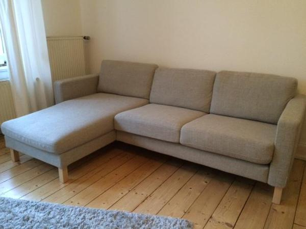 neuwertiges 1 jahr sofa karlstad ikea in hellgrau tenn in wiesbaden polster sessel. Black Bedroom Furniture Sets. Home Design Ideas