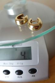 Ohrringe aus Gelbgold -