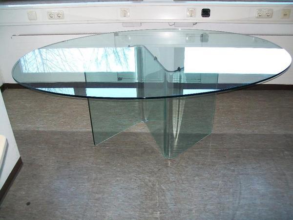 Glastisch 120 neu und gebraucht kaufen bei for Ovaler glastisch