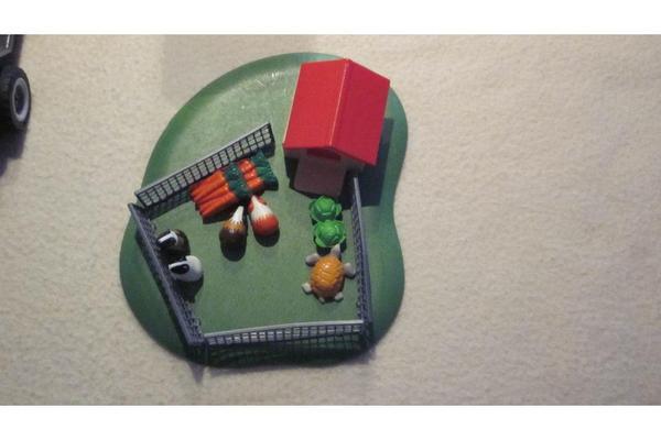 playmobil pferdeanh nger und auto mit meerschweinchenstall. Black Bedroom Furniture Sets. Home Design Ideas