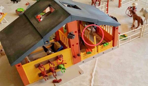 playmobil reiterhof  bauernhof mit viel zubehör in