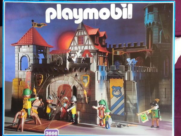 Playmobil ritterburg angriffsturm drache in