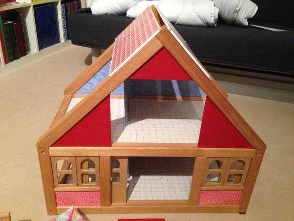 puppenhaus inkl selecta vollausstattung einrichtung. Black Bedroom Furniture Sets. Home Design Ideas