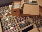 Riesige Schallplattensammlung zu
