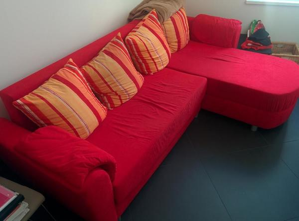 Rotes schlafsofa abzugeben in m nchen polster sessel for Rotes schlafsofa