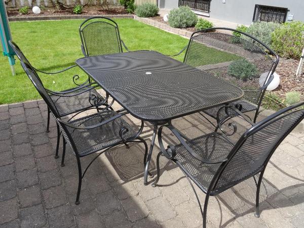 MHS RoyalGarden Streckmetell Gartengarnitur bestehend aus 4 x Stuhl [R
