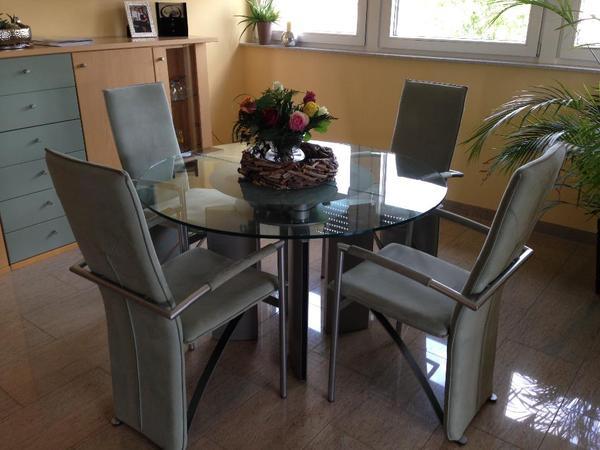 glastisch rund neu und gebraucht kaufen bei. Black Bedroom Furniture Sets. Home Design Ideas