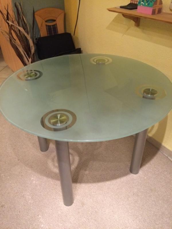 glastisch rund kaufen gebraucht und g nstig. Black Bedroom Furniture Sets. Home Design Ideas