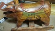 Schaukelschwein aus Holz