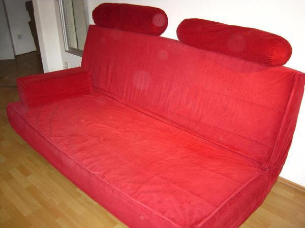 schlafsofa beddinge rot cord in neustadt schlafsofas kaufen und verkaufen ber private. Black Bedroom Furniture Sets. Home Design Ideas