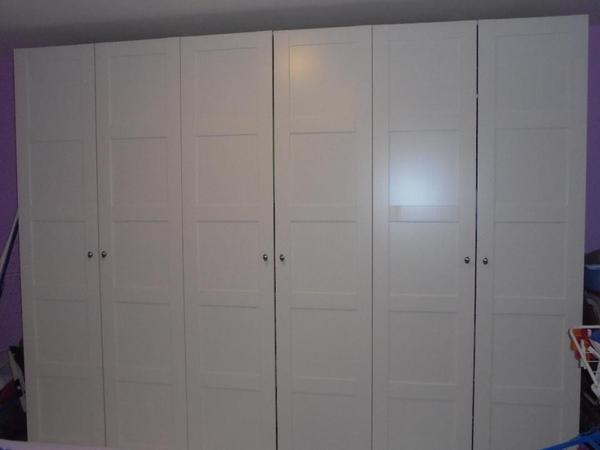 schlafzimmerschrank ikea pax in st leon rot schr nke. Black Bedroom Furniture Sets. Home Design Ideas