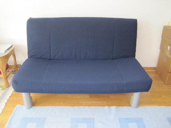 sch nes blaues sofa zum doppelbett ca 140 x 200 ausziehbar sofa wurde sehr selten nur als. Black Bedroom Furniture Sets. Home Design Ideas