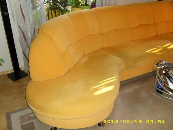 Sch nes sofa gro e moderne couch sofagarnitur in gelb - Gelbe couch ...