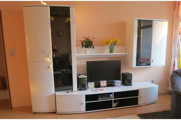 schrankwand weiss segm ller. Black Bedroom Furniture Sets. Home Design Ideas