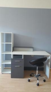 Schreibtisch + Bücherregal
