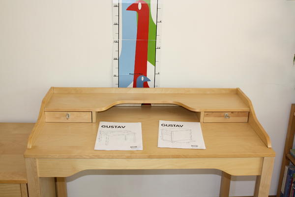 Ikea Schreibtisch Unterschrank ~ IKEA Möbel  Schreibtisch GUSTAV mit Rollcontainer von IKEA sehr gut