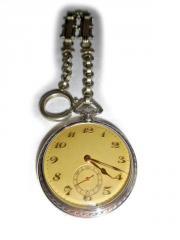 Silberne Taschenuhr von