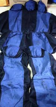 Sitzbezugset blau-schwarz