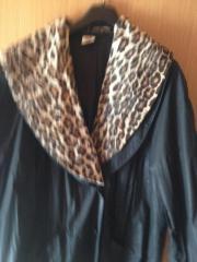 Sommermantel Leopardenkragen Gr.