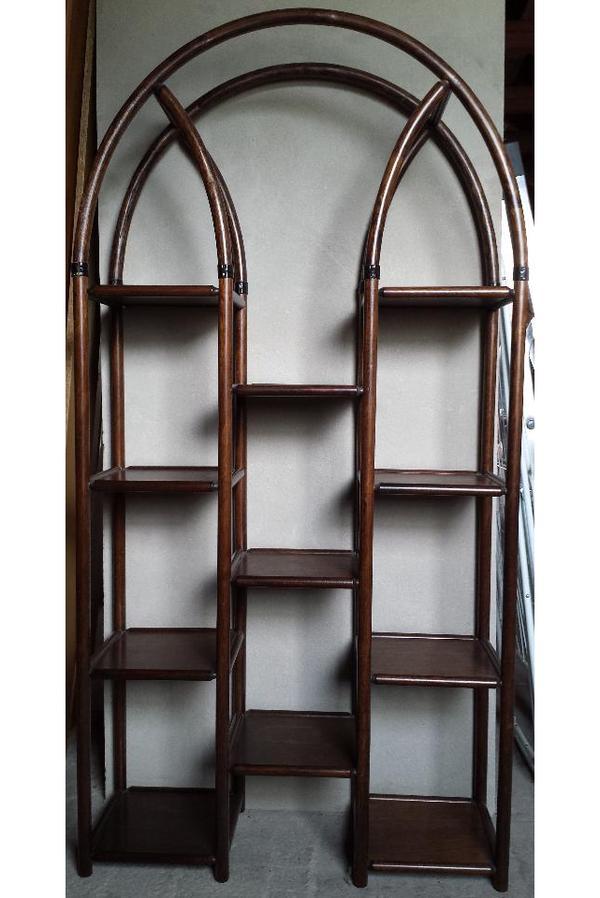 standregal regal rattan nussbaum wenge in neumarkt regale kaufen und verkaufen ber private. Black Bedroom Furniture Sets. Home Design Ideas