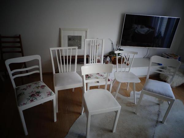 stuhl st hle weil holz landhaus shabby chic massiv in. Black Bedroom Furniture Sets. Home Design Ideas