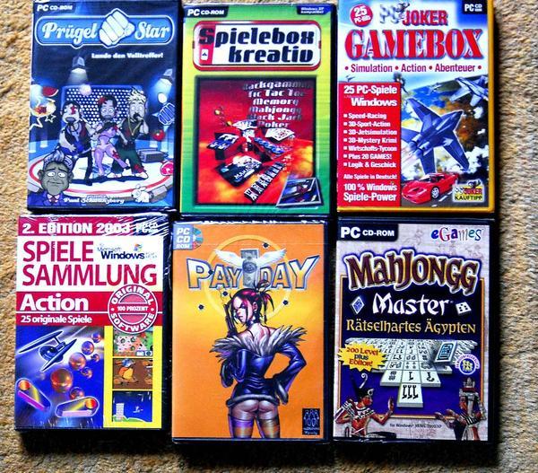 super angebot 6 cd s computerspiele original verpackt in viernheim pc spiele kaufen und. Black Bedroom Furniture Sets. Home Design Ideas