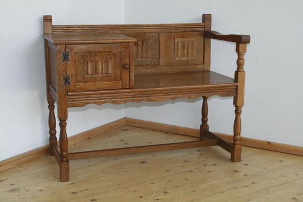 telefon schuh sitzbank bank telefontisch tisch telefonablage ablage regal 2 in bergkirchen. Black Bedroom Furniture Sets. Home Design Ideas