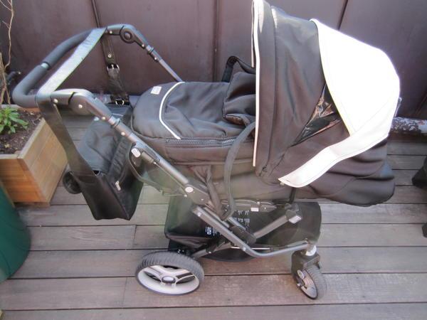teutonia mistral s quadro sondermodell viel zubeh r schwarz wei kinderwagen buggy in. Black Bedroom Furniture Sets. Home Design Ideas