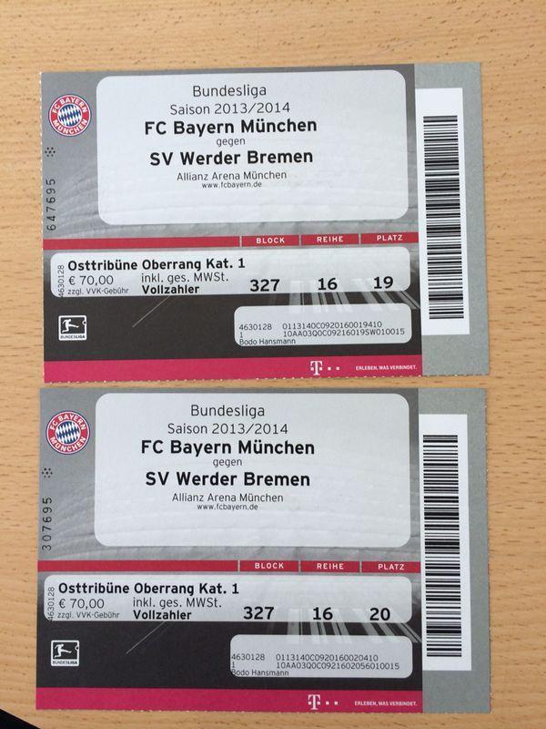 Tickets Bayern Bremen