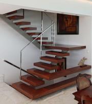 Treppe, Geländer Edelstahl,