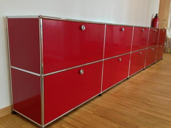 usm haller sideboard in rot in gr ndau b rom bel kaufen. Black Bedroom Furniture Sets. Home Design Ideas