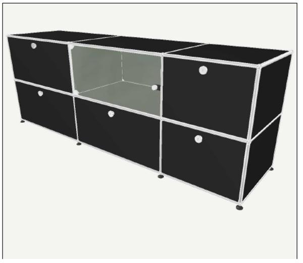 usm haller sideboard graphitschwarz ohne inhalt in stuttgart designerm bel klassiker kaufen. Black Bedroom Furniture Sets. Home Design Ideas