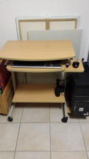 computertisch auf rollen ikea hellgrau metall abholung oder versand m glich in. Black Bedroom Furniture Sets. Home Design Ideas