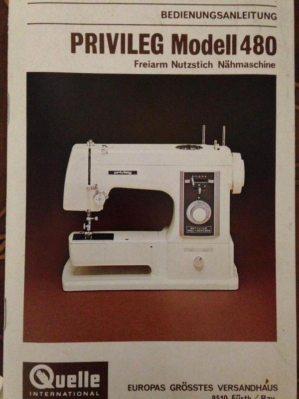 Verkaufe gebrauchte Nähmaschine PRIVILEG Modell 480 (nur  ~ Nähmaschine Quelle Privileg