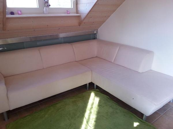 verkaufe wei es sofa. Black Bedroom Furniture Sets. Home Design Ideas