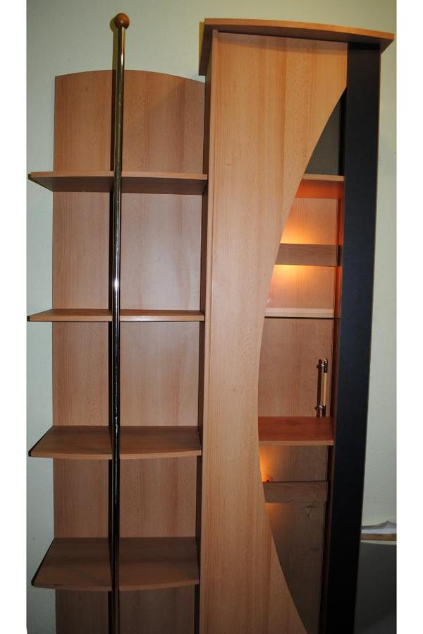 vitrine schrank und b cherregal mit glast r und beleuchtung 210cm in hamburg. Black Bedroom Furniture Sets. Home Design Ideas