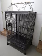Vogelkäfig (Papageienkäfig) dunkelgrau