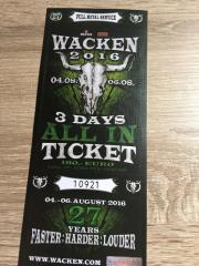 Wacken 2016 Ticket