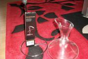 Weinkaraffe mit Dekandierflaschenhalter
